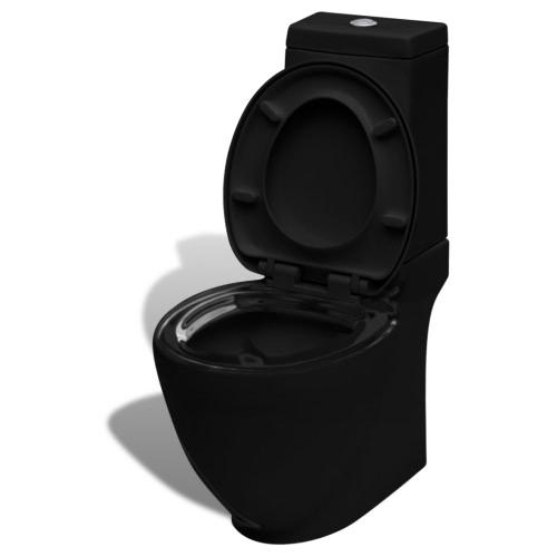 Toilette en céramique carré noir