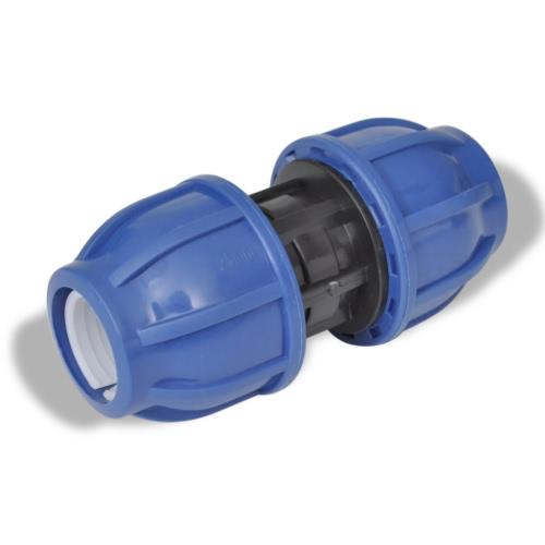 PE Hose Connector Coupler droites 16 Bar 20mm 2 Pieces