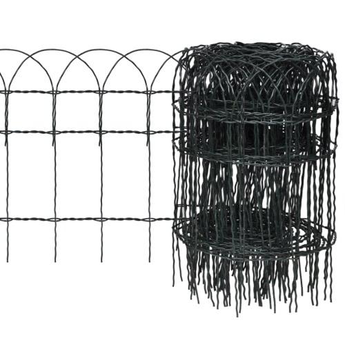 Recinzione estensibile per giardino e prato 10 x 0,4 m