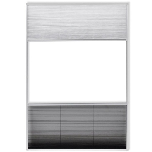 "Окно для экрана насекомого Plisse Алюминий 63 ""x31.5"" с оттенком"