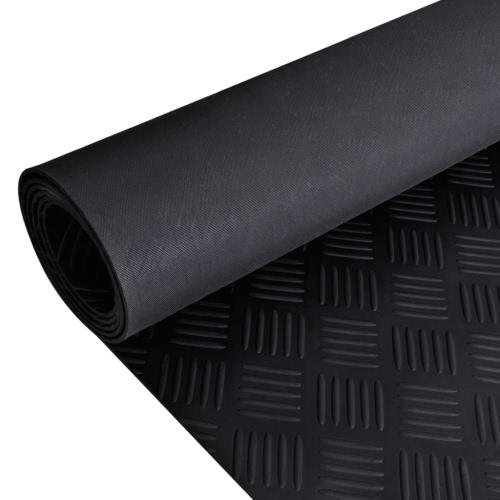 Rubber Floor Mat Anti-Slip 7' x 3' Checker Plate