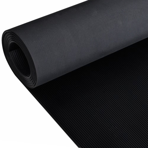 Rubber Floor Mat Anti-Slip 16' x 3' Fine Ribbed