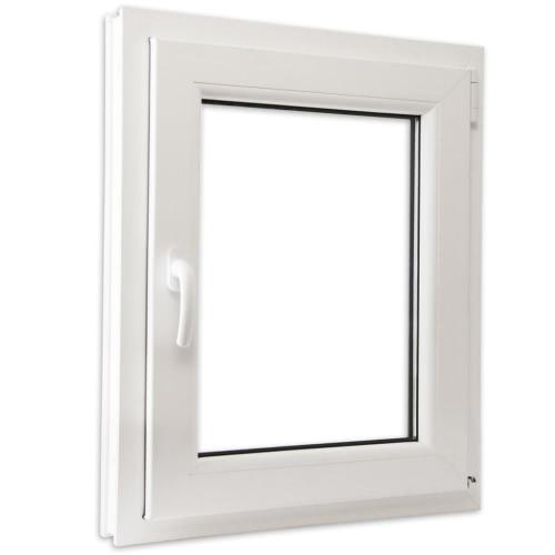 PVC doppelt verglaste Fenster kippen und Griff 600x800mm links abbiegen