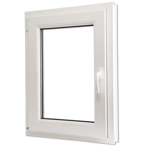 Ventana doble acristalado PVC oscilo-batiente manilla der 600x900mm