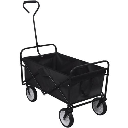 Black Foldable Garden Trolley