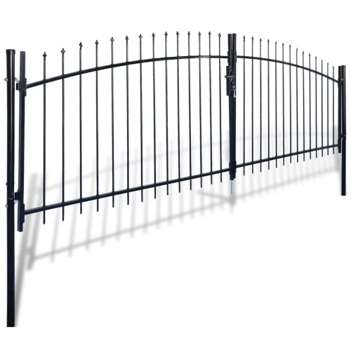 Double Door Fence Gate with Spear Top 13' x 5'