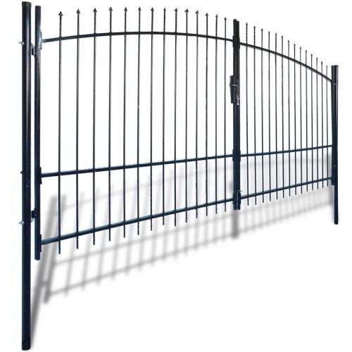 Double Porte de clôture de porte avec Spear Top 13 'x 8'