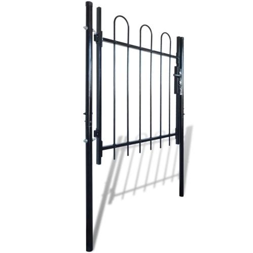 """Cancello a cancello singolo con telaio superiore 39,4 """"x39,4"""""""