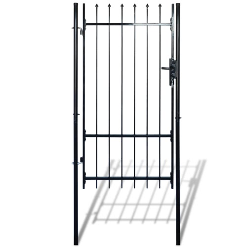 Single Door Fence Gate with Spear Top 39