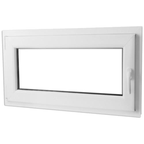 ПВХ с двойным остеклением наклона окна и повернуть ручку дер 1000x600mm