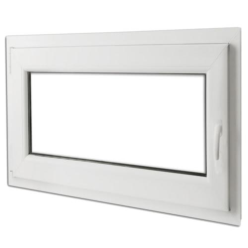 PVC double vitrage fenêtre oscillo et tourner la poignée der 900x700mm