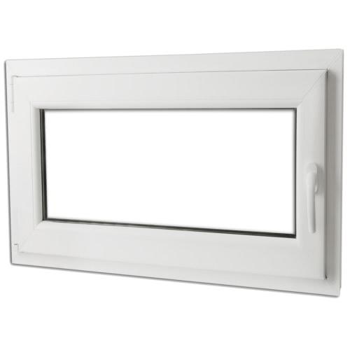 PVC double vitrage fenêtre oscillo et tourner la poignée der 900x600mm
