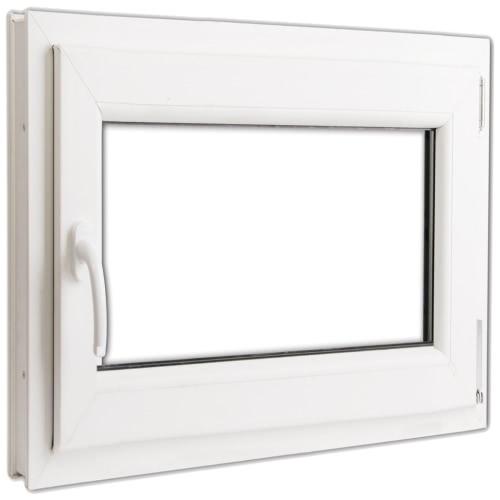 Ventana doble acristalado PVC oscilo-batiente manilla izq 800x700mm