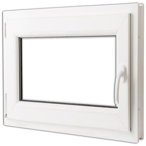 PVC doppelt verglaste Fenster Drehkipp 800x700mm Griff der