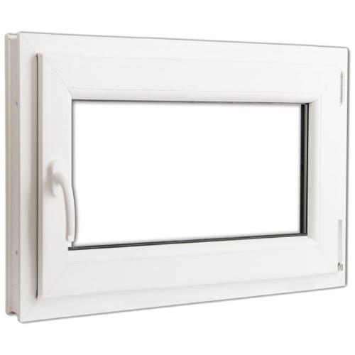 PVC à double fenêtre oscillo vitrée et tourner à gauche poignée 800x600mm