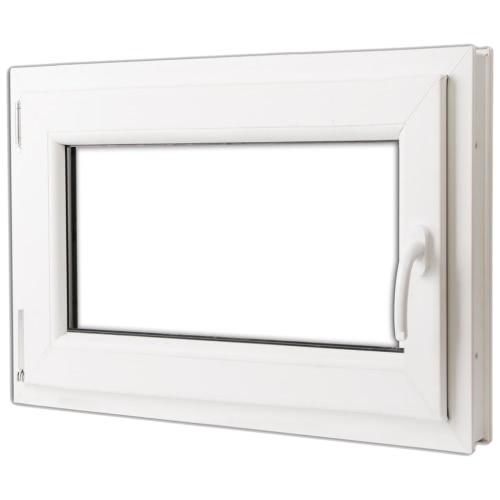 PVC doppelt verglaste Fenster Drehkipp 800x600mm Griff der