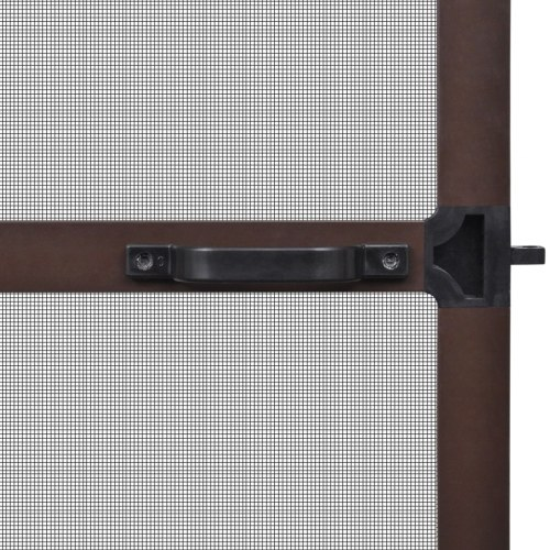Brown Hinged Insect Screen for Doors 39.4