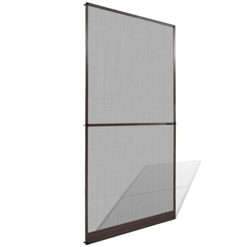 Brown Hinged Insect Screen for Doors 47.2
