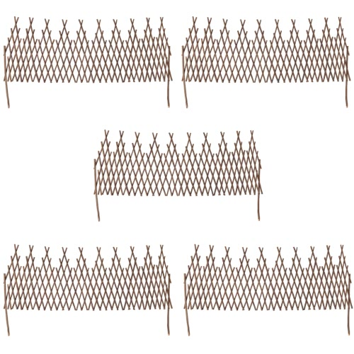Set of 5 Expandable Willow Trellis Fence 67