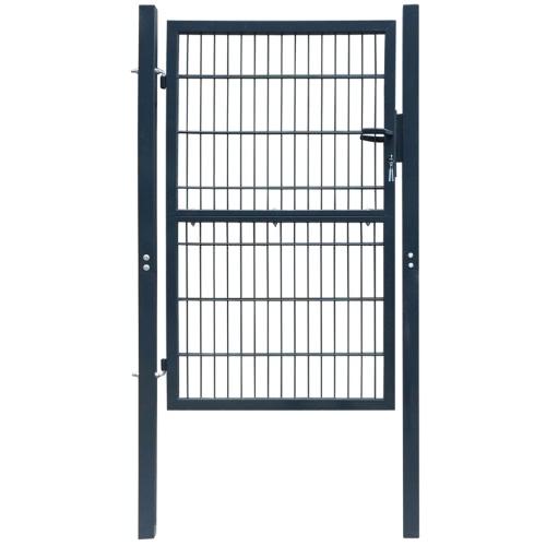 2D двери ворота (легкая) антрацит 106 х 170 см