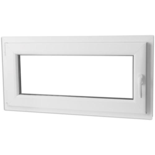 PVC inclinaison et tourner la poignée de fenêtre en verre triple der 1000x500 mm