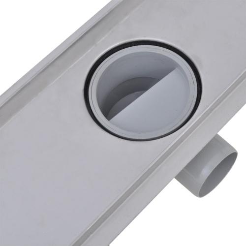Linee di scarico per doccia lineari acciaio inox 1030x140 mm
