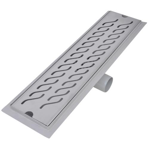 Scarico per doccia lineare 530x140 mm in acciaio inossidabile