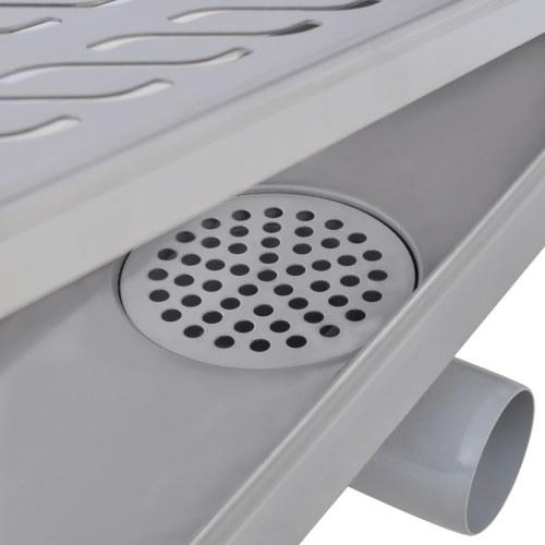 Onde doccia drenanti lineari acciaio inox 930x140 mm