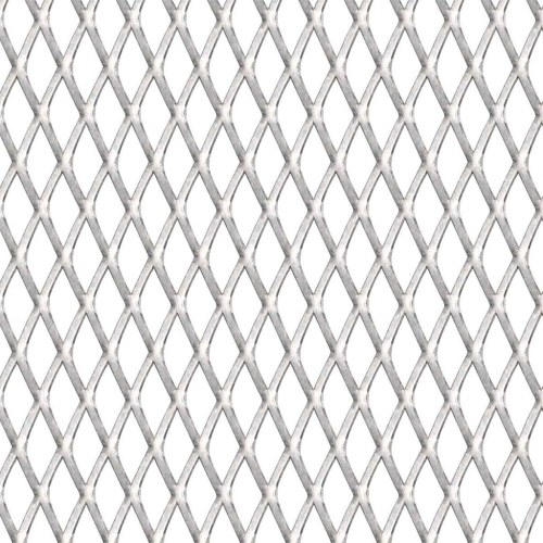Expanded wire mesh panel 100x100cm 20x10x2mm stainless steel.