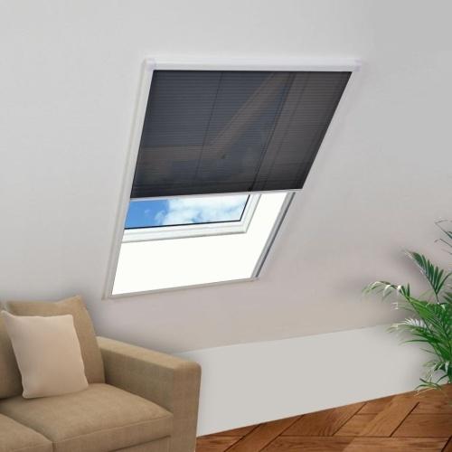 "Plisse Insect Screen для Windows Aluminium 51.2 ""x39.4"""
