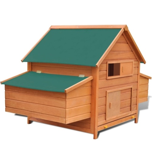 "Chicken Coop Wood 61.2 ""x38.2"" x43.3 """