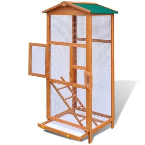 """Bird Cage Wood 25.6 """"x24.8"""" x65 """""""