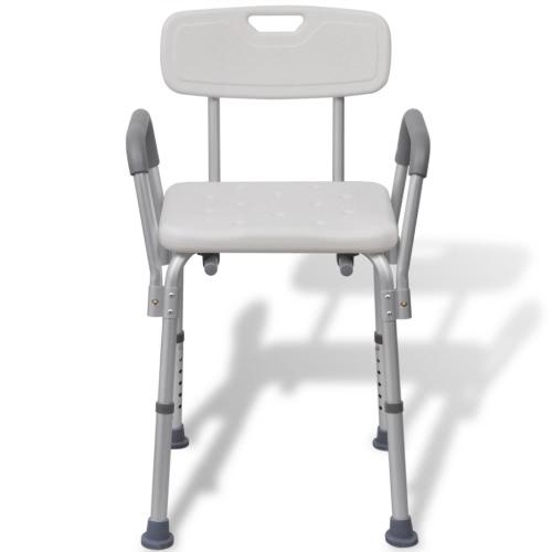 Душевое сиденье из алюминия (белый)