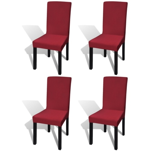lining elastic chairs for 4 pcs. bordeaux
