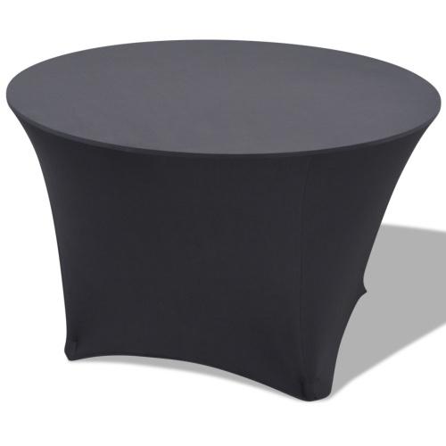 Elastische Futter für Tisch 2 Stück Rund 180x74 cm Anthrazit