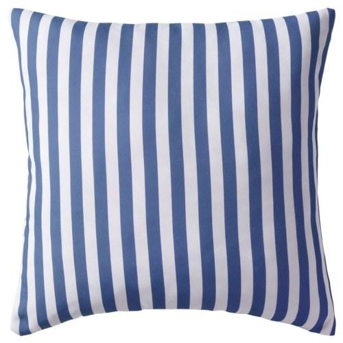 Наружные подушки 4 шт. Полосатая печать 45x45 см Синий