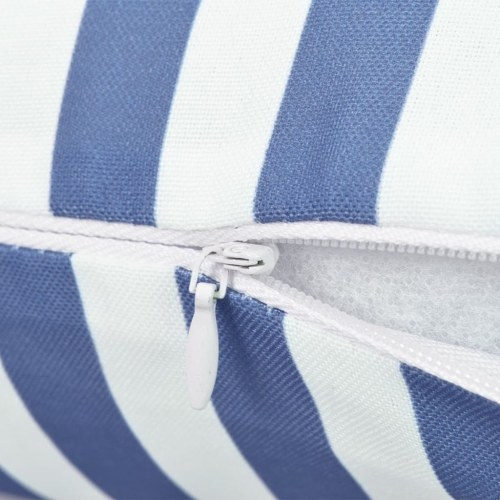Наружные подушки 2 шт. Полосатая печать 60x40 см Синий