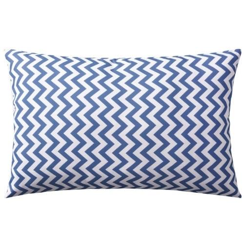 Наружные подушки 2 шт. Зигзаг Печать 60x40 см Синий