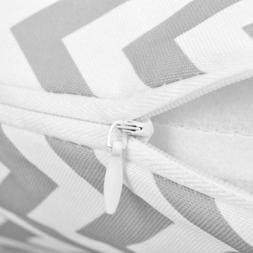 Наружные подушки 2 шт. Зигзагообразная печать 45х45 см. Серый