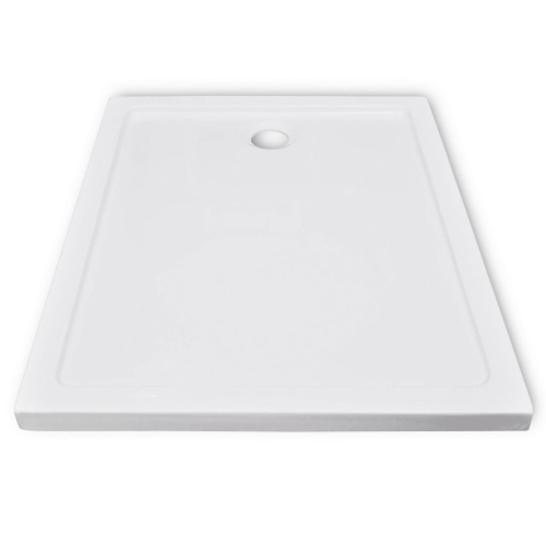shower abs with rectangular base tray 80 x 100 cm
