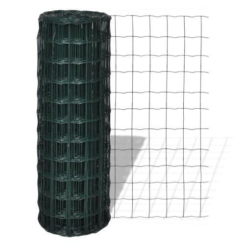 Rete recinzione stile europeo 25 x 1,5 m con maglia di 100 x 100 mm