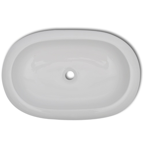 sink into luxury ceramic white oval shaped 63 x 42 cm