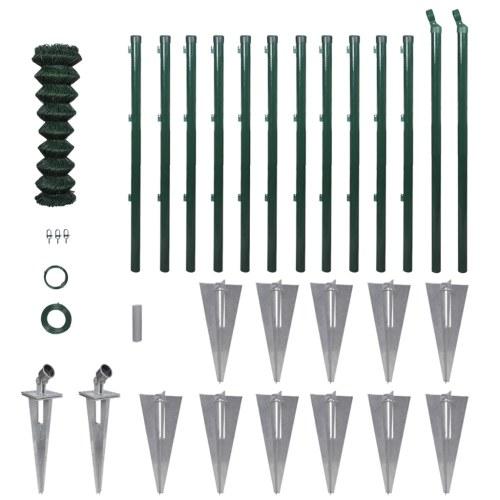 Set recinto in filo metallico con pali spuntoni & accessori 1,25 x 25m