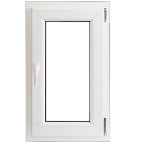 Anta Ribalta Finestra PVC Manico Sinistra con doppi vetri 600 x 1000mm