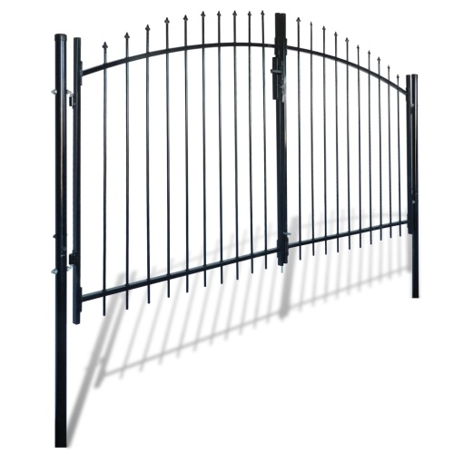 double painted metal modular gate with arrows 300 x 175 cm