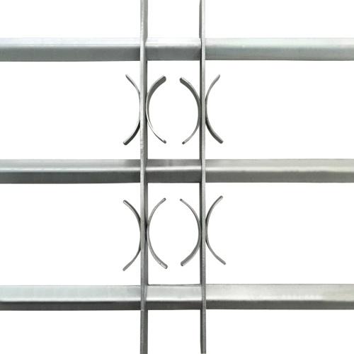 Griglia regolabile protezione finestre 3 barre trasversali 500-650 mm