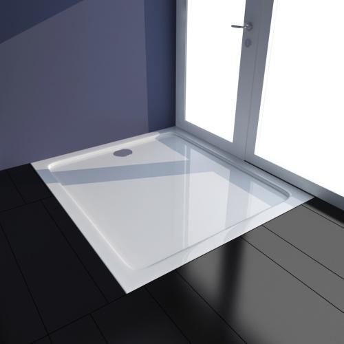 Piatto doccia rettangolare in ABS bianco 80 x 90 cm
