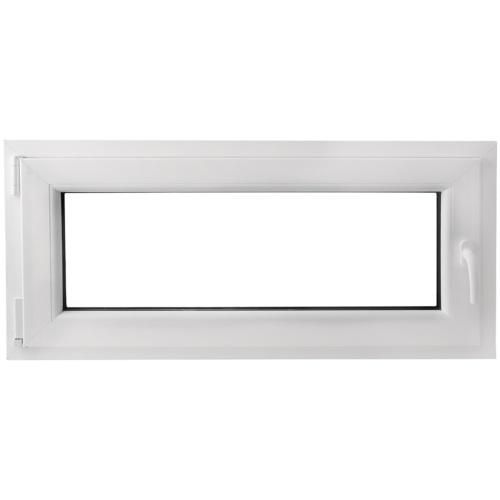 Finestra anta ribalta PVC manico a destra con doppi vetri 1100 x 500mm