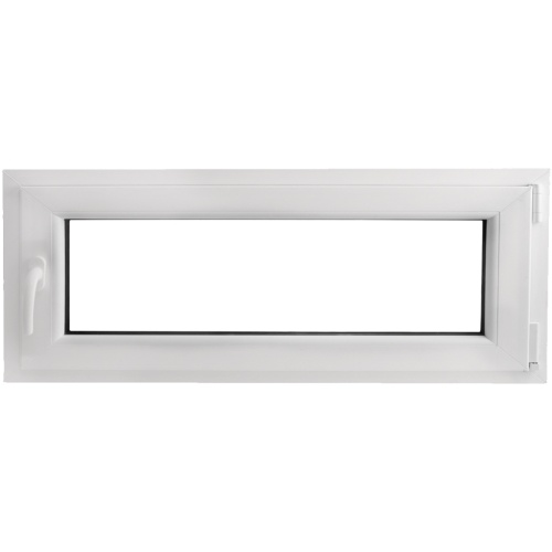 Finestra anta ribalta PVC manico a sinistra con doppi vetri 1000x400mm