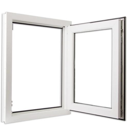 Finestra anta ribalta PVC triplo vetro manico a sinistra 600 x 900 mm
